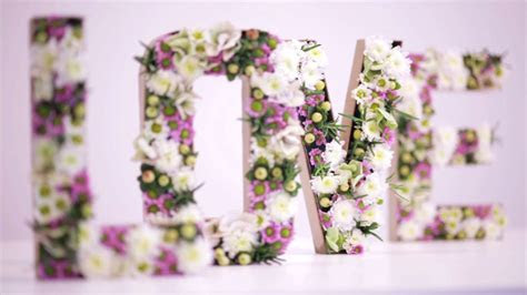 DIY Flower Letters   Funny how flowers do that