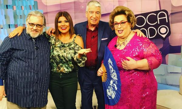 """Leão Lobo, Mara Maravilha, Décio Piccinini e Mamma Bruschetta no """"Fofocalizando"""" (Foto: Reprodução/Instagram)"""