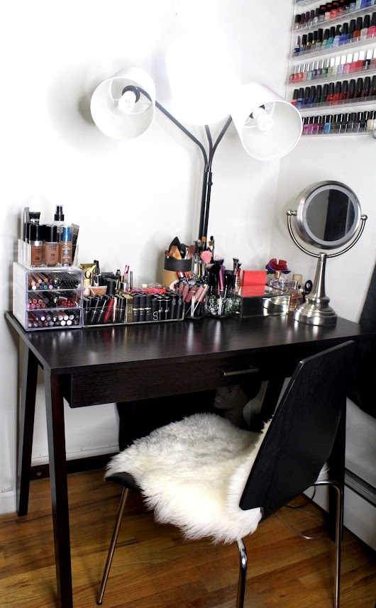 My Beauty Corner + How To Organize Your Makeup In A Small Space