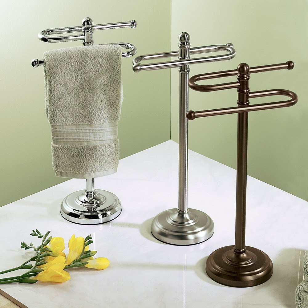 Stylish Free Standing Towel Racks For Outstanding Bathroom Ideas