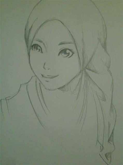 hijab style pencil drawing hijab anime pinterest