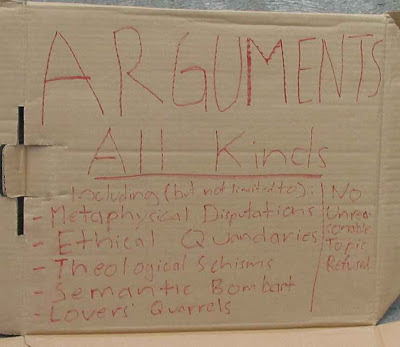 The Argument Sign - text is included in post
