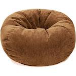 Kids' Micro-Fiber Suede Bean Bag Chair Desert Brown - Gold Medal