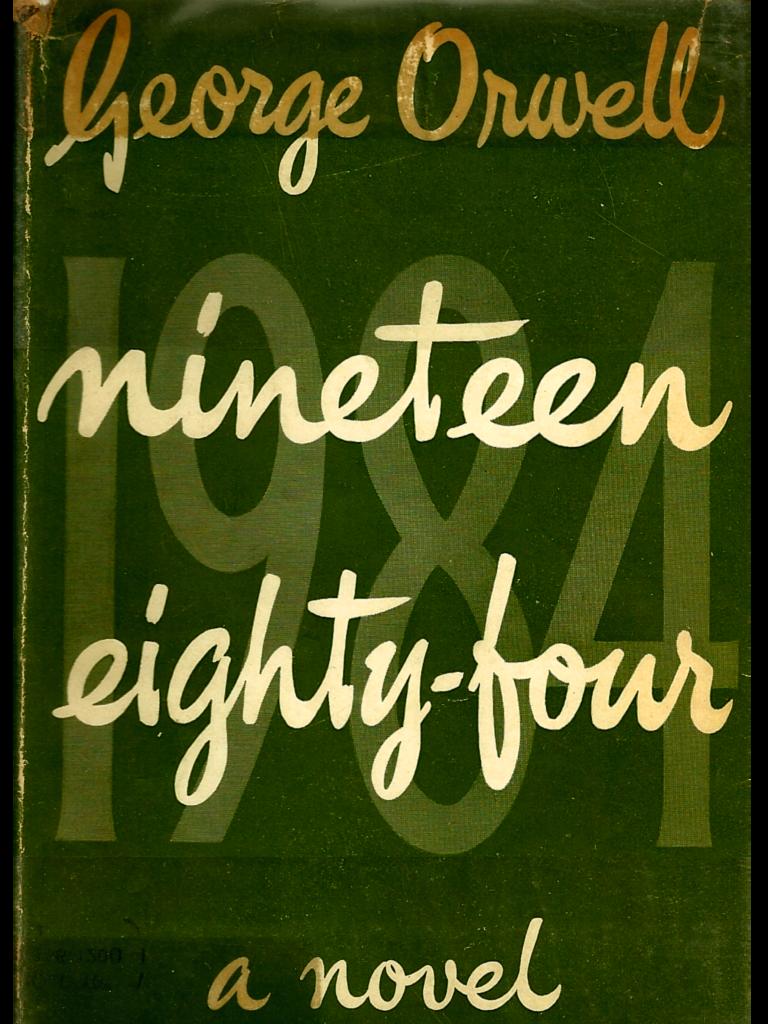 1984: la copertina del celebre libro di George Orwell