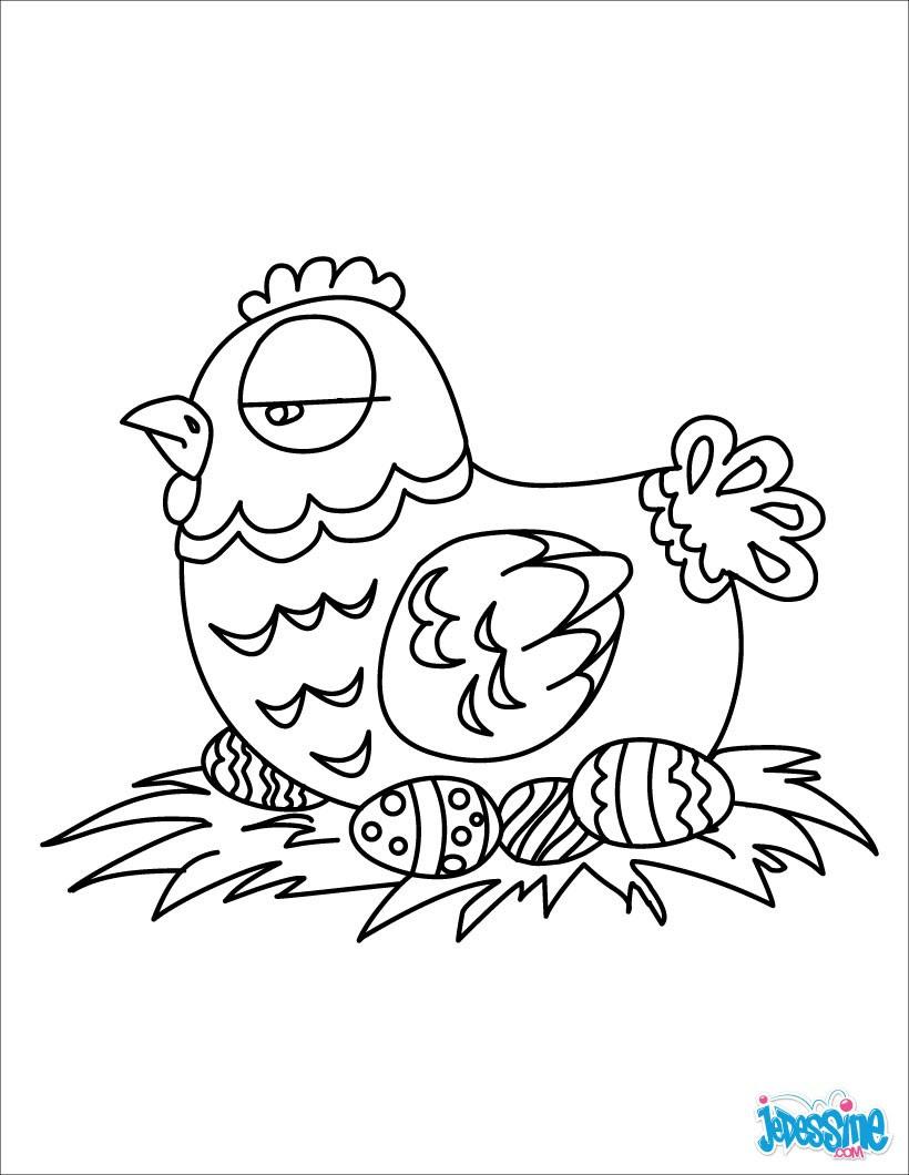 Petite poule de P¢ques Poule de P¢ques et ses oeufs