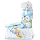 Baby Boy Blue Gift Set, 8Pc With Decorative Cube by 1-800-Baskets - Gift Basket Delivery