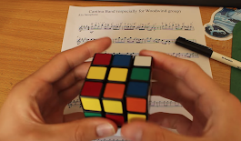 The Star Wars 'Cantina Band' as played on a Rubik's Cube