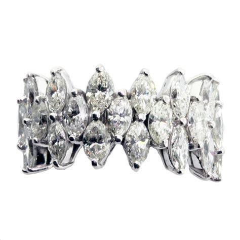 Marquise Cut 9ctw Diamond Platinum Eternity Band   Bridal