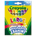 Binney & Smith 523280 Washable Crayons Twistable Eight Colors per Box
