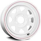 Allied Wheel Components 8 Spoke Wheel 14x6 (0, 5X120.65, 83.8) White Single Rim