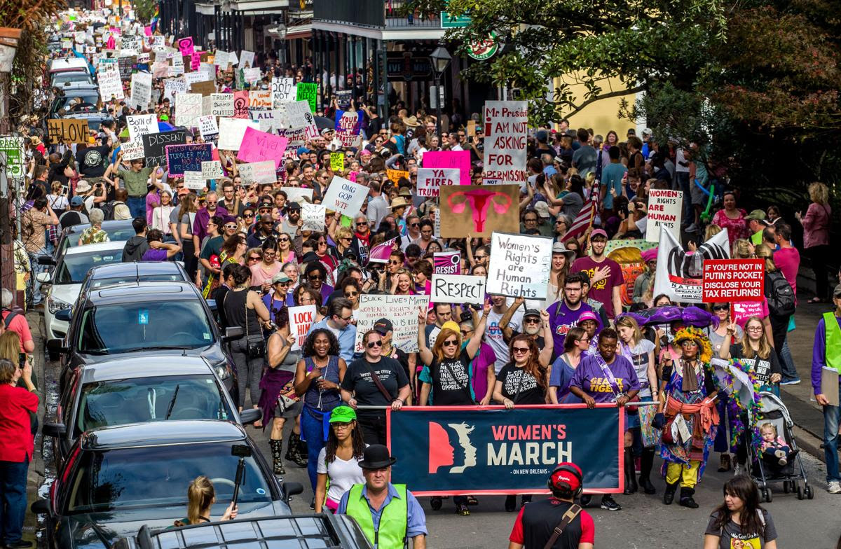 Photos: More than 10,000 gather in New Orleans for Women