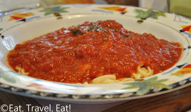 Sesame Grill: Linguini with Tomato Sauce