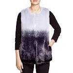 Vince Camuto Womens Faux Fur Ombre Vest Purple