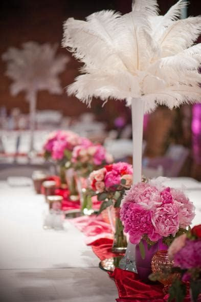 Ostrich Feather Plume White For Wedding Centerpieces