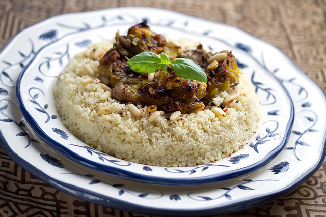 Lamb with lemon and saffron Moroccan style