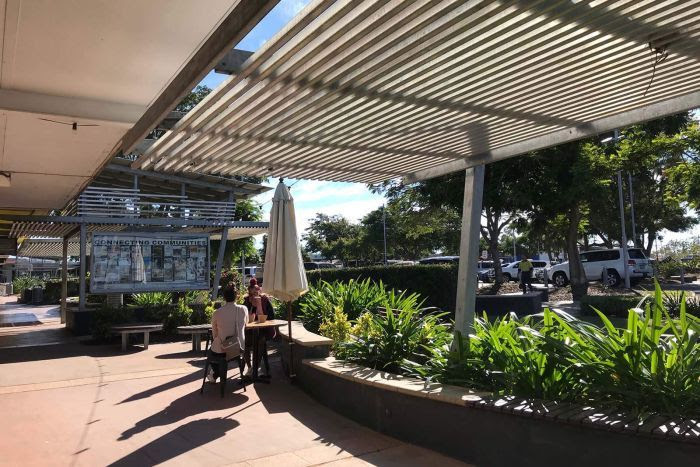 The town centre of Moranbah