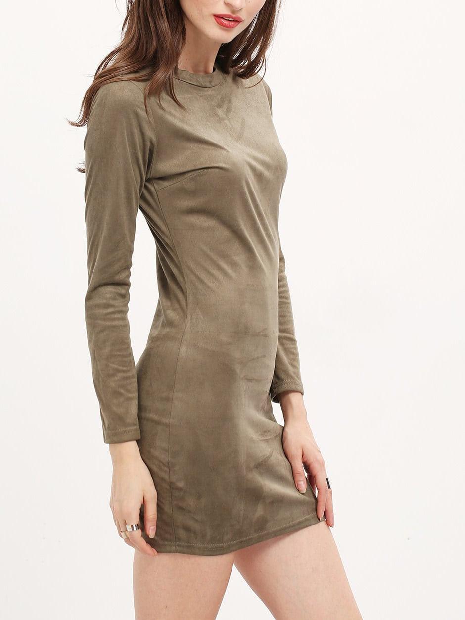 Plain Dresses Long Sleeve Bodycon Neck Crew vendors wholesale