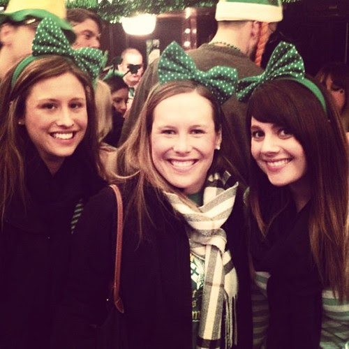 Why yes, we are wearing the same headband. Happy St. Patrick's day from Chicago!