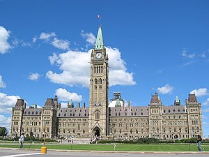 The Centre Block on Parliament Hill, containin...