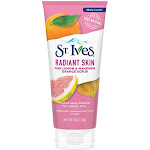 St. Ives Radiant Skin Face Scrub, Pink Lemon and Mandarin Orange - 6 oz tube
