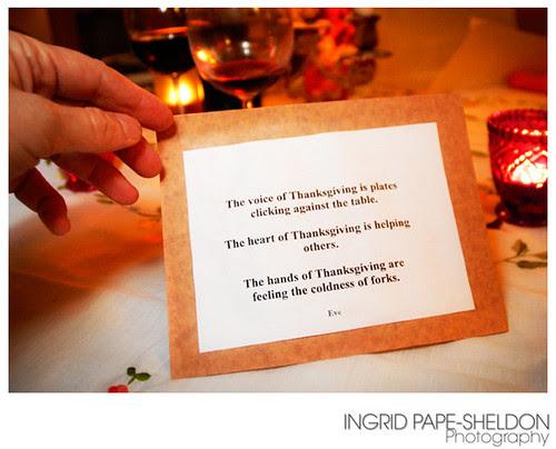 Thanksgiving 2007 Poem