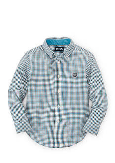 Chaps Button Front Checkered Shirt Boys 4-7