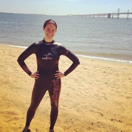 Getting ready for my first open water swim