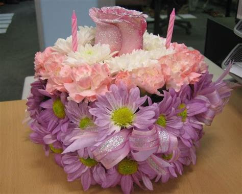 Flower theme birthday cake (1 comment) Hi Res 720p HD