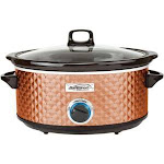 Brentwood SC-157C 7 qt. BS Slow Quilted Cooker Copper
