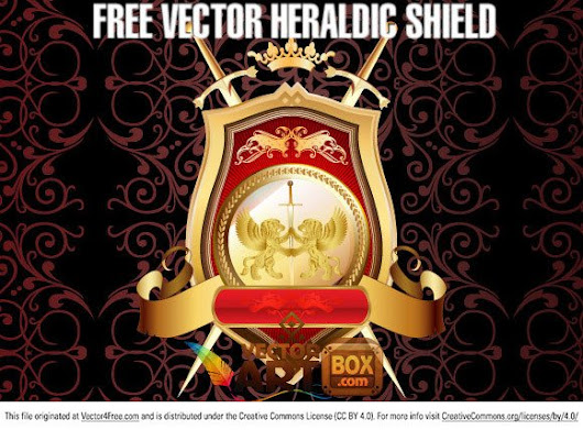 Great Free Vector Heraldic Shield - 365psd