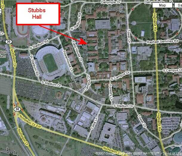 Maps To Stubbs Hall Lsu Small