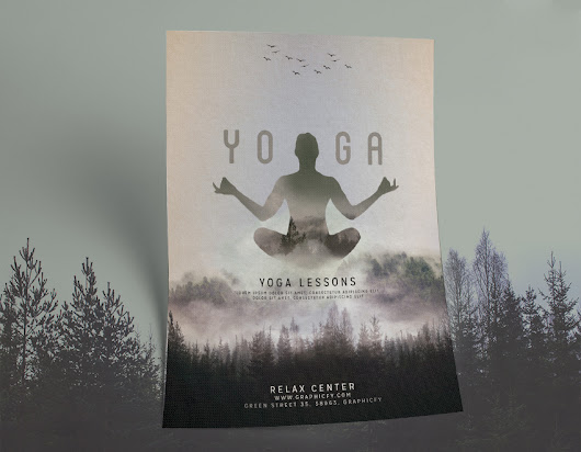 Yoga Flyer Template - Awesome PSD Yoga Template - Graphicfy