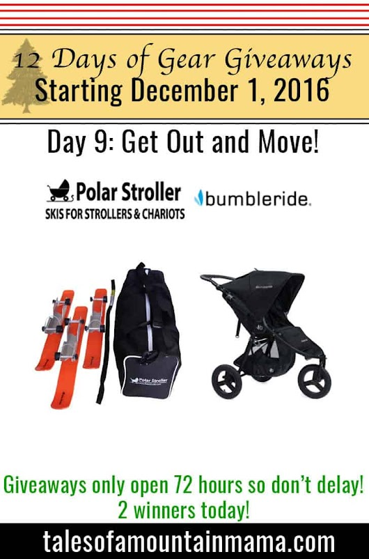 12 Days of Gear Giveaways Day 9: Get Out and Move! - Tales of a Mountain Mama