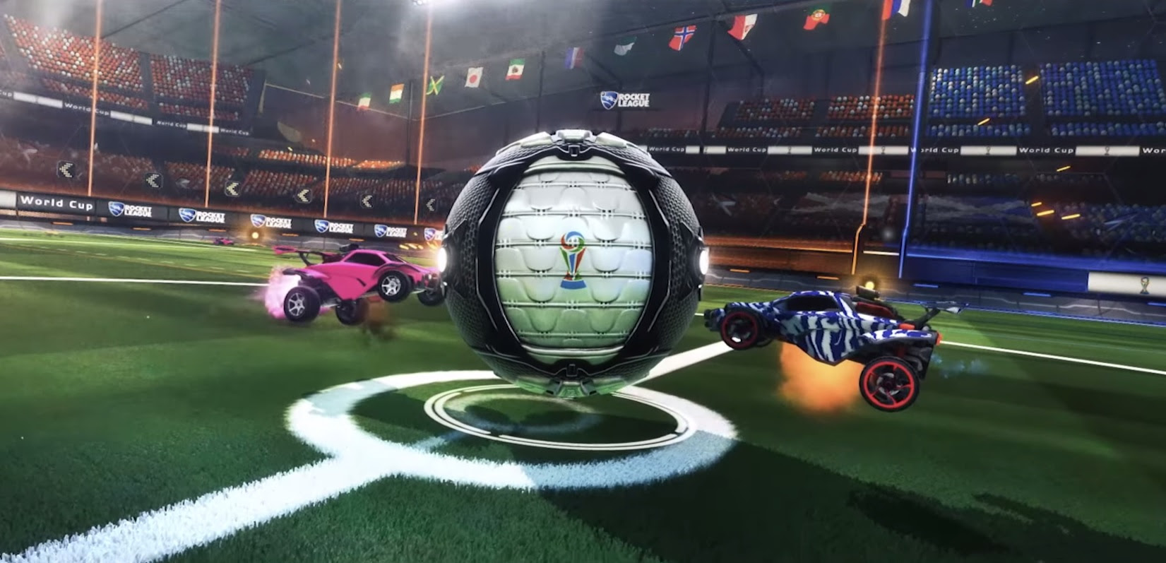 Rocket League players fight for national pride in the game's first ever World Cup screenshot