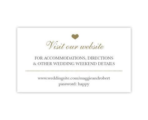 Wedding Website Cards, Enclosure Cards, Wedding Hashtag