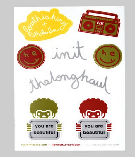Fourth Is King - FIK + Matthew Hoffman + You Are Beautiful Stickers