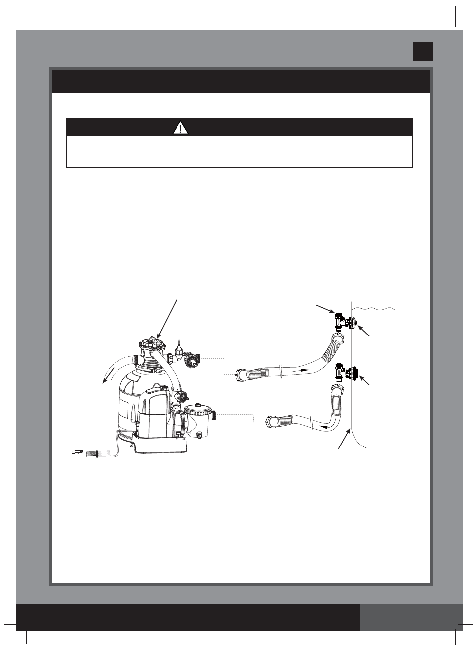 Save these instructions, Warning, Sand filter pump hose ...