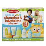 Melissa & Doug LCI31703 Mine To Love Changing & Bathtime Set