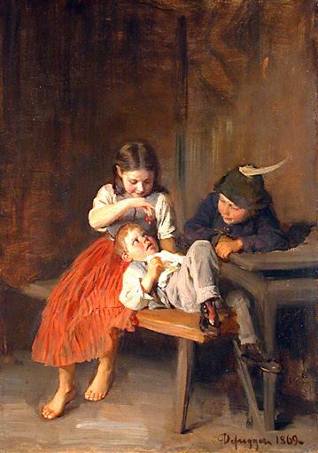 Kinder beim Kirschenessen