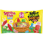SOUR PATCH KIDS Candy & SWEDISH FISH Candy Easter Variety Pack, 50 Treat Size Packs