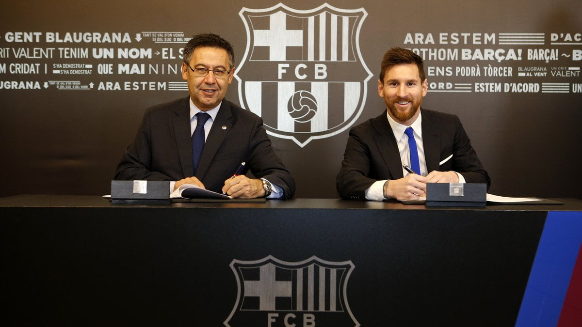 Messi signs new four-year deal with Barcelona, release clause now €700m