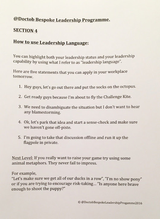 "Dr Tim O'Brien on Twitter: ""My bespoke Leadership Programme is available at an extortionate price - but - here is a teaser for free ... """