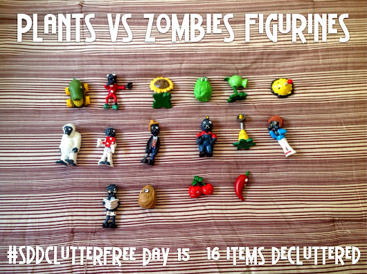 SDD Clutter Free Day 15: Plants Vs Zombies Figurines, My To-Do List, and My Expectations