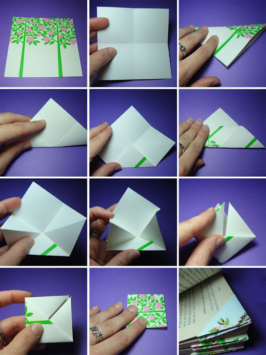 easy origami bookmark | diy/creative ideas | Pinterest