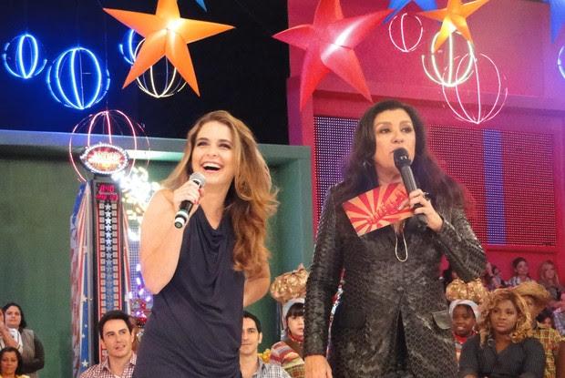 Cláudia Abreu e Regina Casé (Foto: Esquenta/TV Globo)