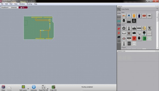 fritzing software pcb view