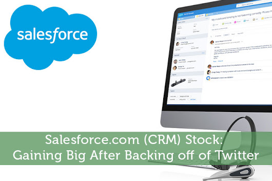 Salesforce.com (CRM) Stock: Gaining Big After Backing off of Twitter - Modest Money