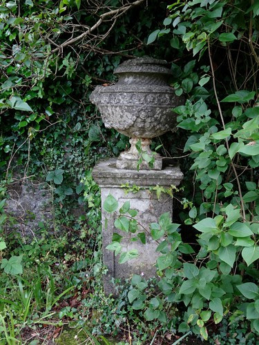 Urn in the walled garden