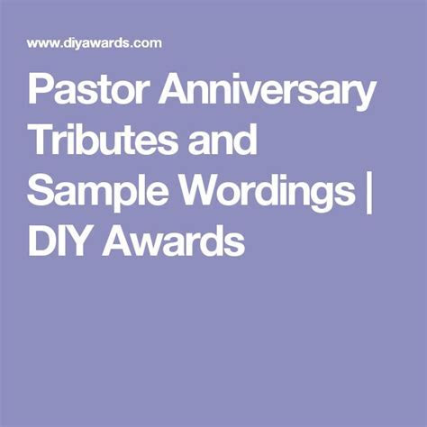 Pastor Anniversary Tributes and Sample Wordings   Cards