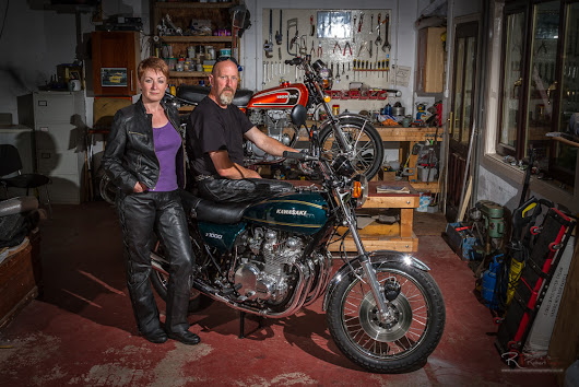 A Pair of Beautifully Restored Classics - Robert Taylor Motorcycle Photography